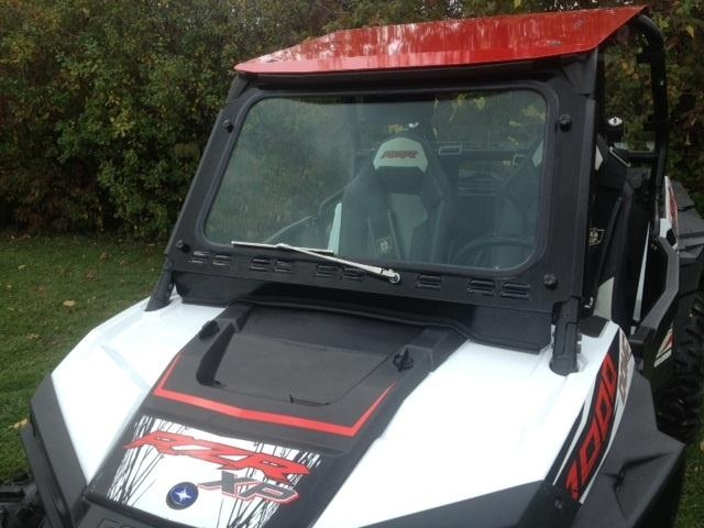 EMP RZR XP1000 and 2015-18 RZR 900, 2016-18 RZR-S 1000 Laminated Safety Glass Windshield with Wiper