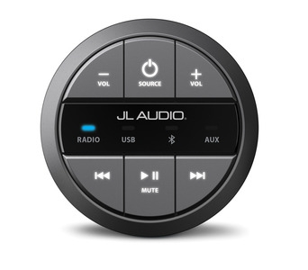 JL Audio MMR-20: Round, wired, non-display remote controller for use with MediaMaster®