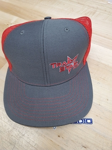 Grey and Red Snap Back