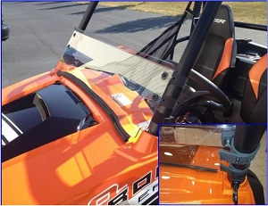 EMP RZR Half Windshield / Wind Deflector (Hard Coated-both sides)