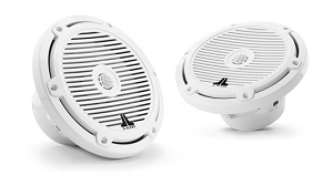 JL Audio 7.7-inch (196 mm) Marine Coaxial Speakers, Gloss White Classic Grilles
