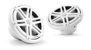 JL Audio 7.7-inch (196 mm) Marine Coaxial Speakers, White Sport Grilles