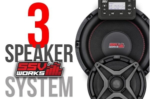 SSV Works POLARIS RANGER XP1000 2018 AND UP SSV WORKS 3 SPEAKER AUDIO SYSTEM